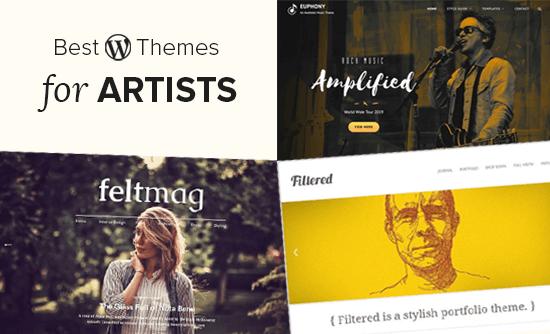 Các chủ đề WordPress tốt nhất cho các nghệ sĩ