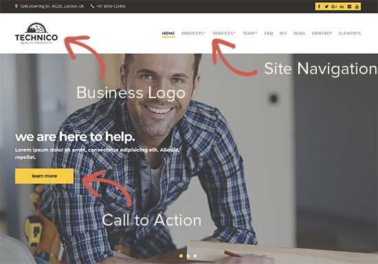 Ví dụ về thiết kế trang web thương mại đơn giản