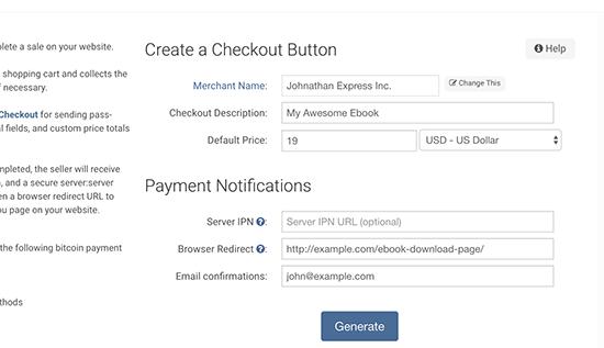 Generando botón de pago