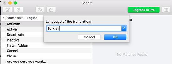 Chọn ngôn ngữ cho bản dịch của bạn