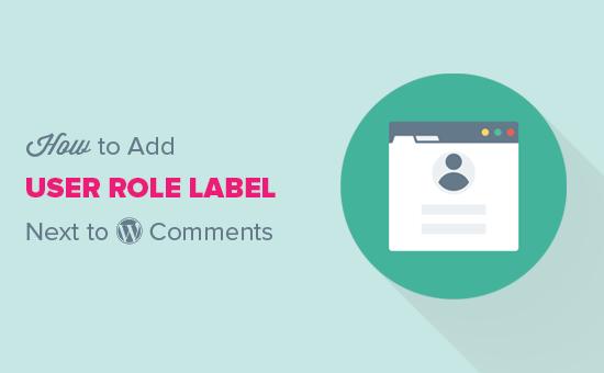 Pridajte rolu používateľa vedľa komentárov WordPress
