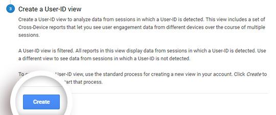 Crear seguimiento de ID de usuario