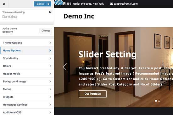 Tùy chỉnh thiết kế trang web của bạn trong WordPress