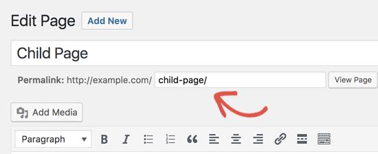 URL de página personalizada