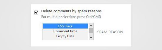 Eliminar comentarios por motivo de spam