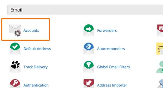 E-mailové účty