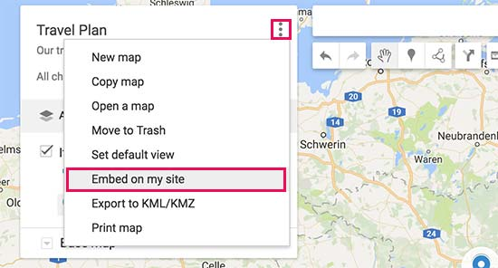 Chèn bản đồ vào trang web