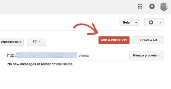 Thêm trang web https làm tài sản mới trong Google Search Console