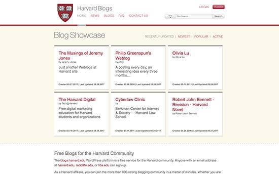 Hơn 40 trường đại học nổi tiếng sử dụng WordPress 1