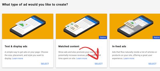 Seleccionar contenido coincidente de Google