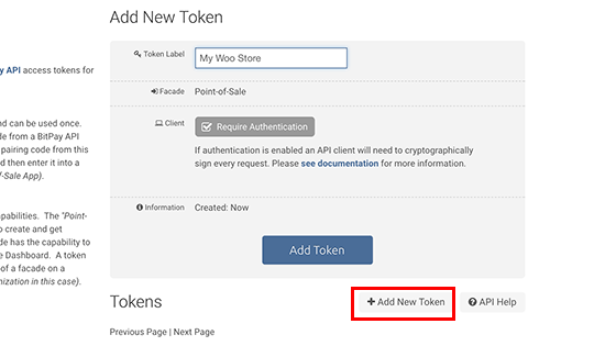 Generando nuevo token