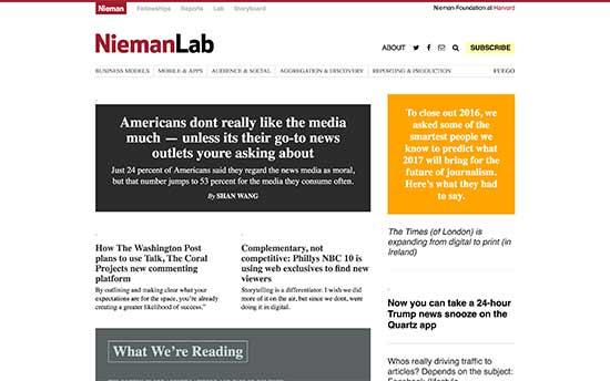 El laboratorio de periodismo de Nieman en la Universidad de Harvard