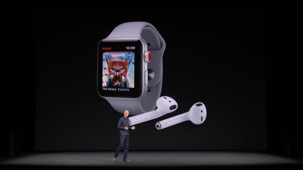 Tim Cook muestra la nueva marca Apple Watch Series 3