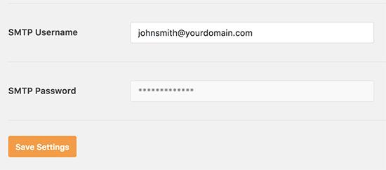 Heslo SMTP je zakázané