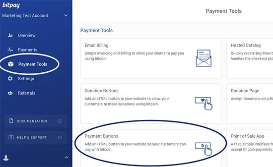 Crear botones de pago de Bitcoin con BitPay