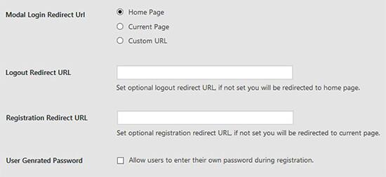Chuyển hướng loại đăng nhập