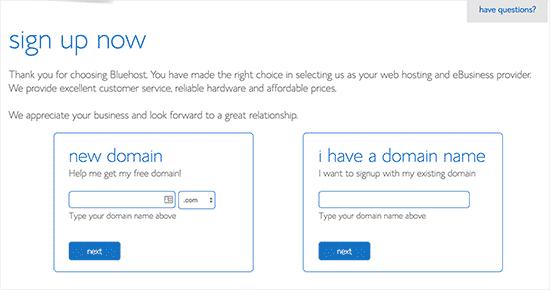 Chọn một tên miền cho trang web của bạn