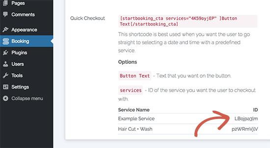 ID dịch vụ