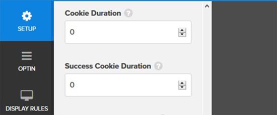 Establecer el valor de duración de la cookie