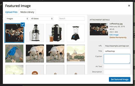 Đặt hình ảnh nổi bật trong WordPress