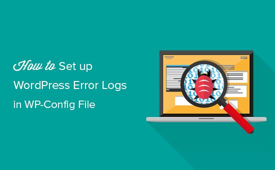 Konfigurovať denníky chýb WordPress