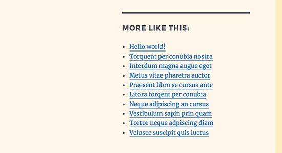 Shortcode được thêm bởi tiện ích HTML tùy chỉnh