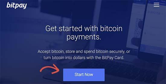 Registro de BitPay