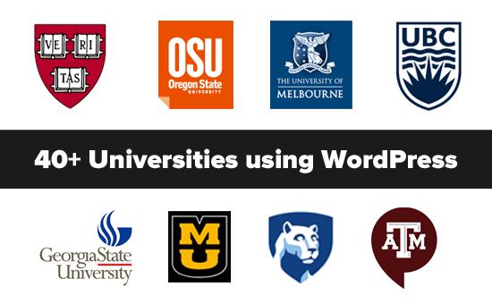 Las mejores universidades que usan WordPress