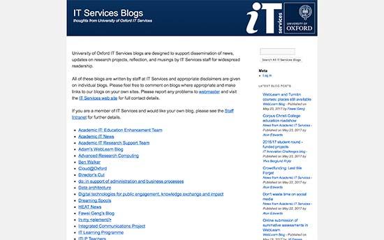 Servicios de TI de la Universidad de Oxford