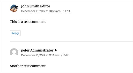 Značka značky používateľa sa zobrazuje vedľa vášho komentára