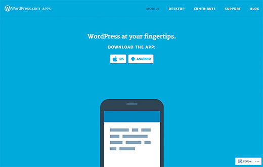 Aplikácie WordPress.com