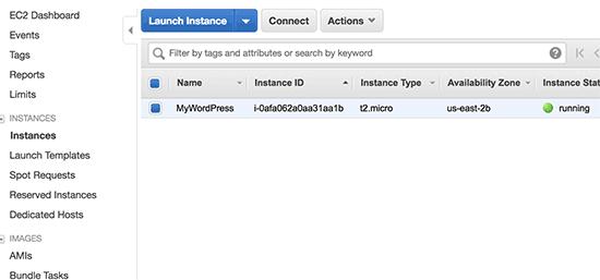 Chạy ví dụ WordPress