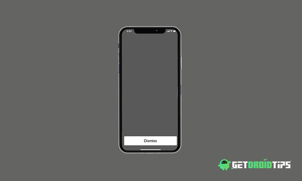 How to Fix Empty Dismiss Flash Message on iPhone which occurs randomly?