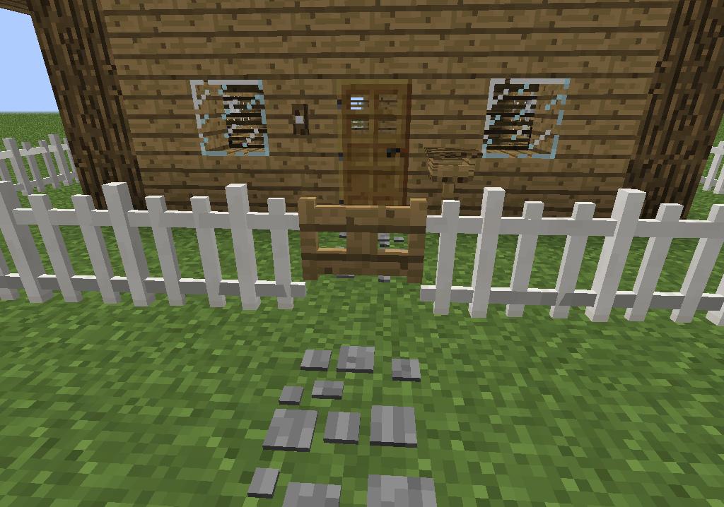 ¿Cómo construir una cerca en Minecraft?