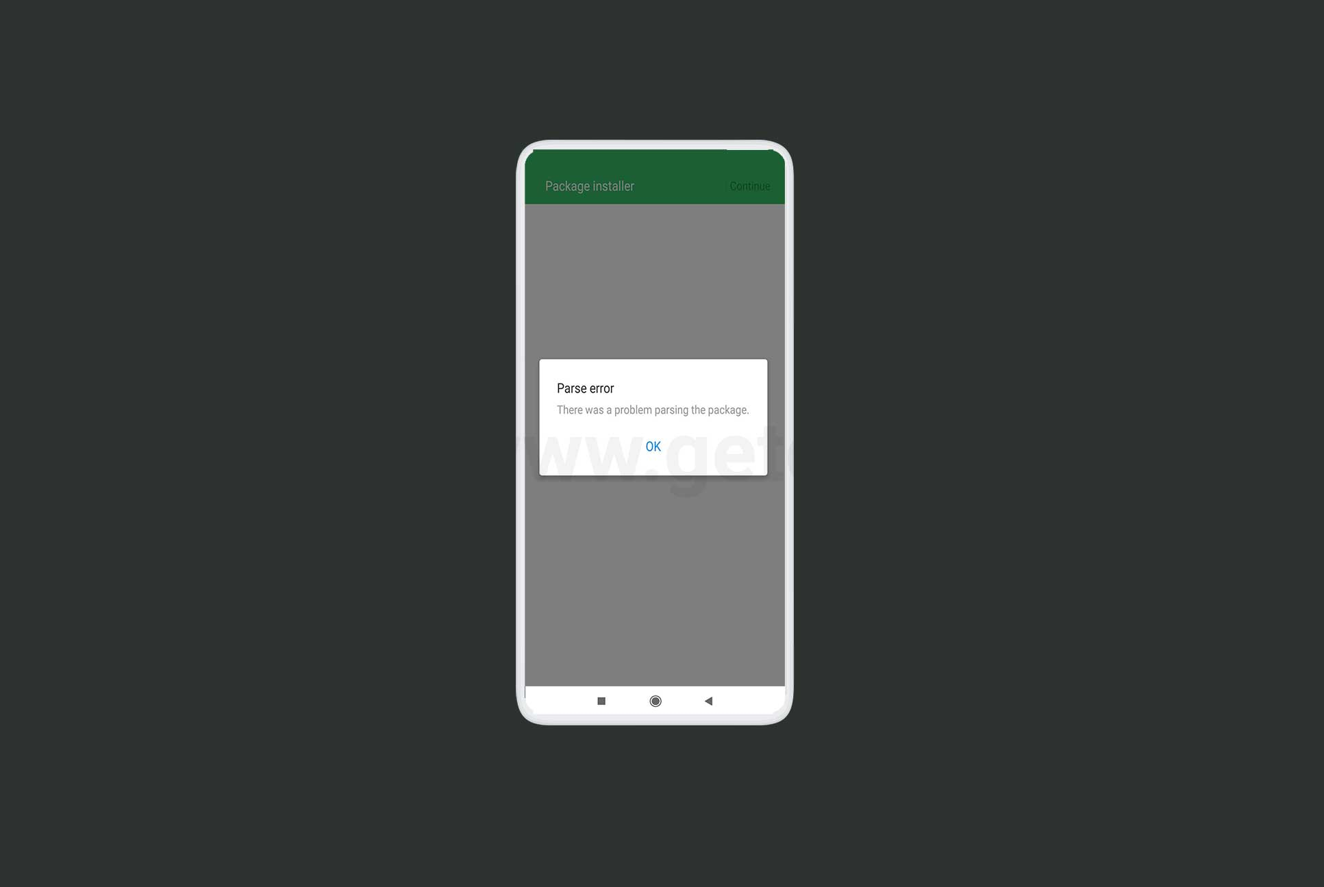How to Solve Parse Error on Android device?