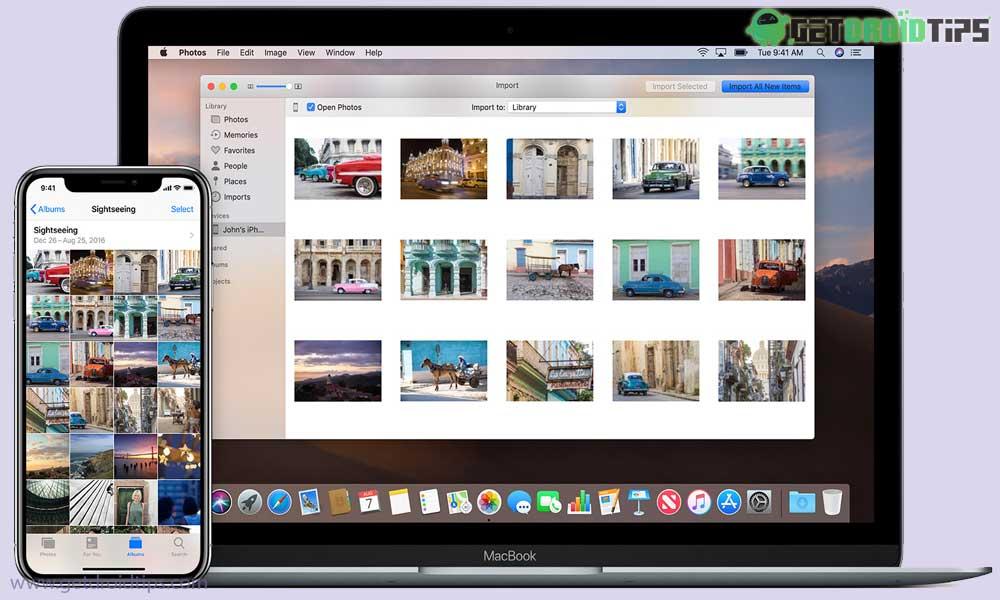 ¿Cómo se pueden importar fotos desde la tarjeta SD / cámara digital al iPhone?