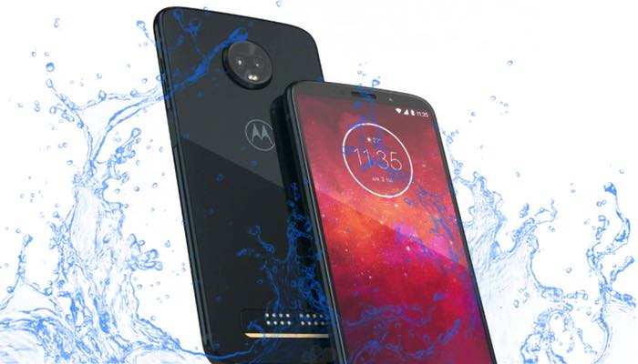 Motorola Moto Z3 Play waterproof test: