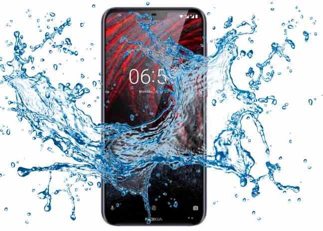 Is Nokia 6.1 Plus Waterproof device?