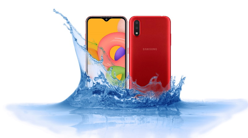Is Samsung Galaxy A01 Waterproof device?