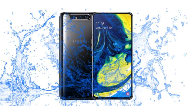 Is Samsung Galaxy A80 Waterproof and Dustproof protected device?