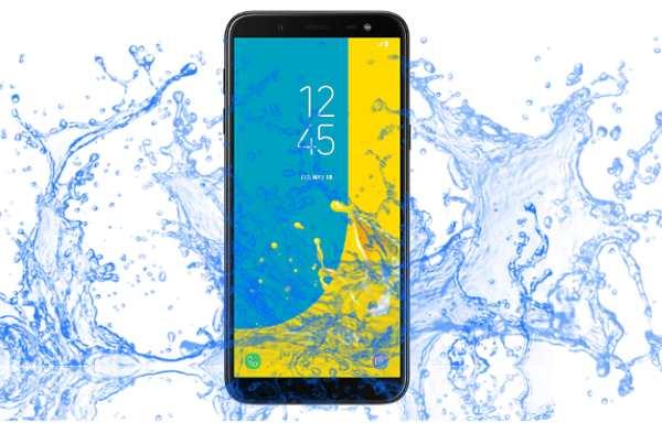 ¿El dispositivo Samsung Galaxy J6 es resistente al agua?