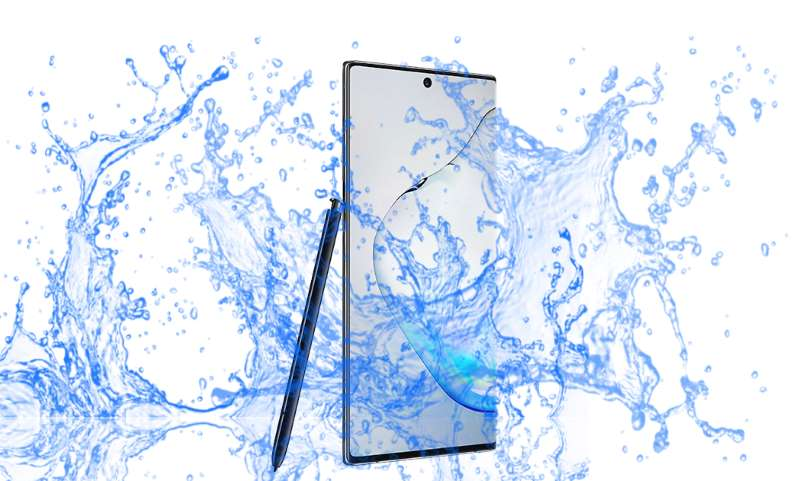 Is Samsung Galaxy Note 10 and 10 Plus waterproof device?