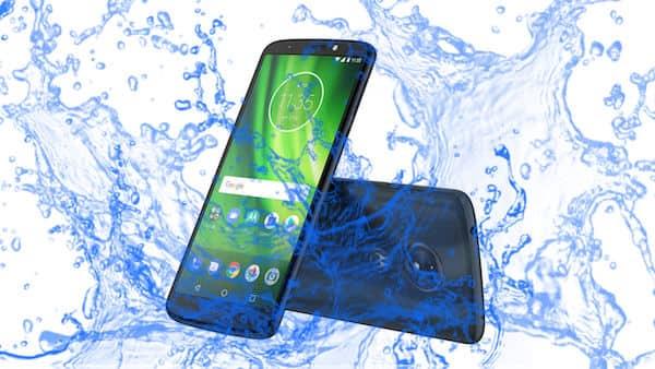 Is Moto G6 Play Waterproof smartphone?