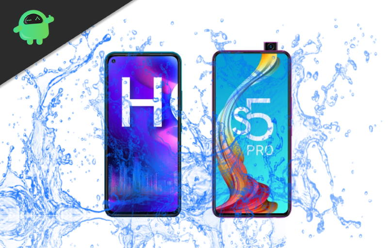 Is Infinix Hot 9 or Infinix S5 Pro a Waterproof device