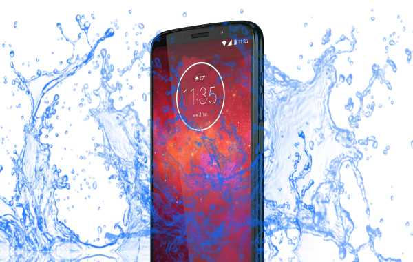 Is Motorola Moto Z3 a waterproof device?