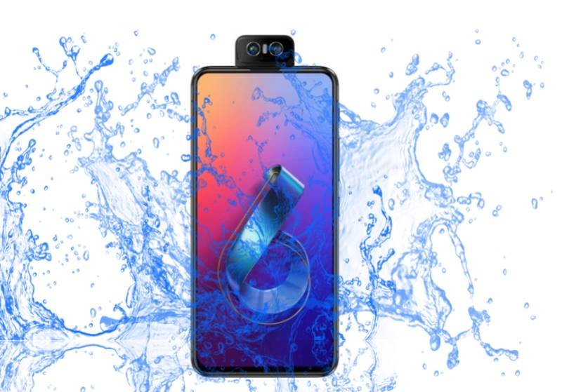 Is Asus Zenfone 6 Waterproof device with a flip camera?