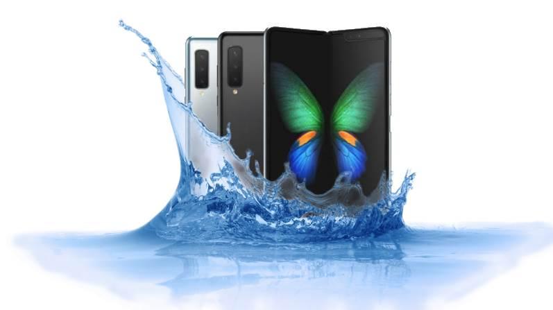 Is Samsung Galaxy Fold waterproof foldable device?