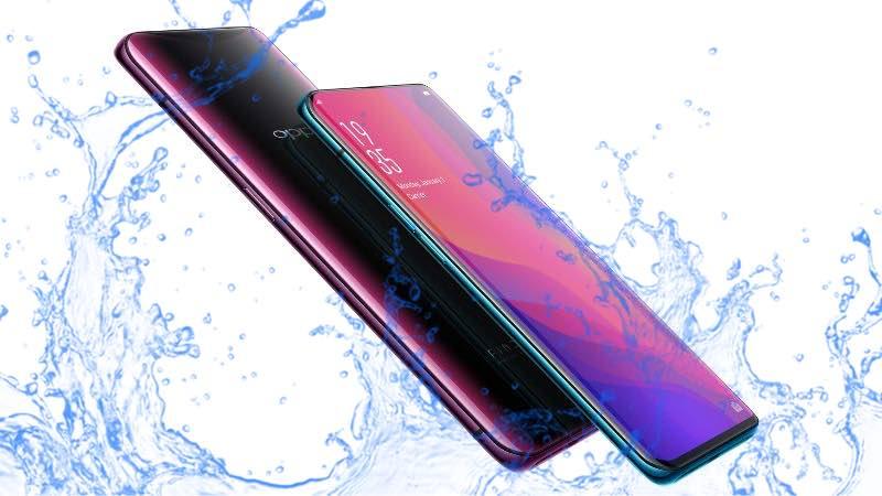 Oppo Find X Waterproof test