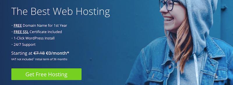 Bluehost es el mejor host de dominio para sitios web de WordPress