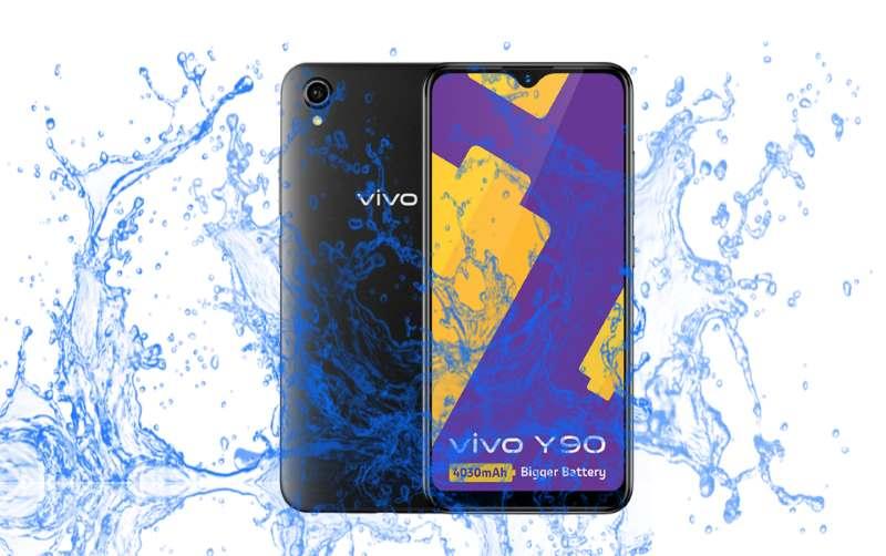 Is vivo Y90 waterproof smartphone?
